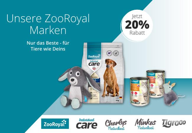 Jetzt sparen beim Kauf von ZooRoyal Marken