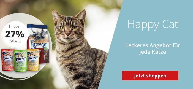 Bis zu 27% auf Happy Cat Katzenfutter sparen